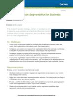 Gartner Article - Apply Supply Chain Segmentation for Business Value