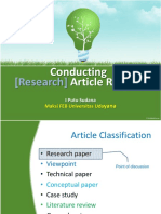 Conducting Article Review
