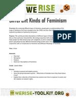Kinda of feminism