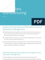World Class Manufacturing Unit I II