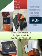 WA 0813.270.43.100, Jual Sampul Raport K13 di Stabat Sumatra Utara