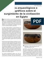 López Saco, J., Apuntes arqueológicos e iconográficos sobre el surgimiento de la civilización en Egipto