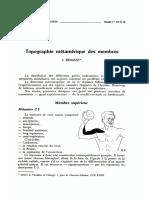 BENASSY, Topographie Métamérique Des Membres, 1985