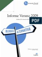 Informe Observatorio Social - Verano 2009