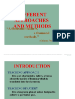 APPROCHES AND METHODS IN TEACHING