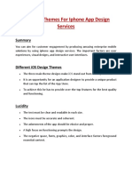 Different Themes for iPhone App Design Services