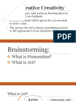 Assumptions and Nature of Arts - Creativity, Imagination, And Expression