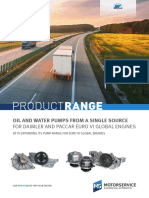 Oil and Water Pumps From a Single Source for DAIMLER and PACCAR Euro VI Global Engines 945538