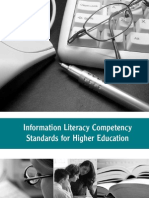 Information Competency Standards From ACRL
