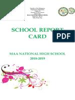 School Report Card Final 2018-2019