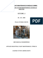 Industrial Plant Maintenance Schedule