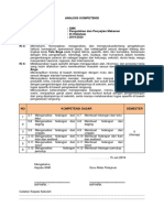 Analisis Kompetensi pengolahan dan penyajian makanan 11 SMK