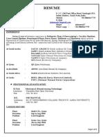 CV of Lead Const Engineer