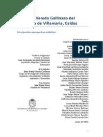 Pensar la Vereda Gallinazo del municipio de Villamaría, Caldas