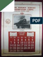 Military Railway Service Calendar 1945