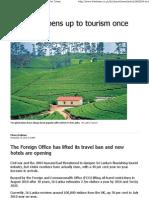 Sri Lanka Opens Up to Tourism-WTM