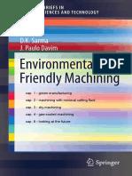 Environmentally Friendly Machining
