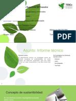 Informe técnico sobre el desarrollo sustentable