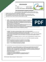 Lista de Biologia Profº Mário 1ª Série p2 IV Bim