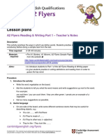 A2 Flyers 2018 Reading and Writing Part 1
