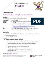 A2 Flyers 2018 Reading and Writing Part 2