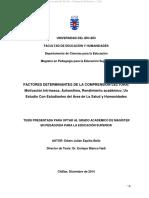 FACTORES DETERMINANTES DE LA COMPRENSIÓN LECTORA