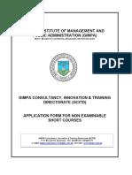 A. World Bank - Gimpa Training Form