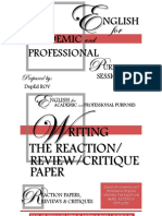 EAPP Writing a Reaction Review Critique Paper
