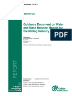 Guidance Document on Water and Mass Balance Models for the Mining Industry