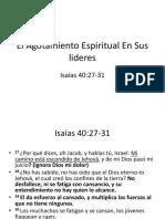Agotamiento Espiritual en El Liderazgo Yali, Jinotega