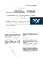 Informe (Lab 1) Péndulo Físico Steven c