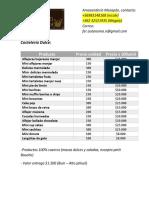 Lista Cotización Mazapan