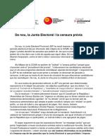 Comunicat dels consells professionals de TV3 i Catalunya Ràdio