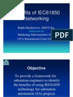Benefits of IEC61850