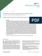 2. Determinantes Sociales de La Desnutricion Cronica Infantil