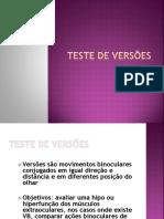 Teste de versões