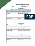 Inventario de Impresoras