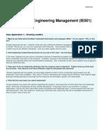 Case Study - Engineering Management