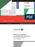 Proyecto Mapuce Odhpi Informe 2013