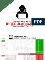Informe Parcial de Irregularidades Primarias Abiertas Pld-1 (1)