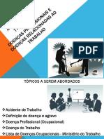 Apresentação_Acidentes de Trabalho e Doenças Ocupacionais