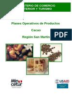 plan operativo de productos cacao