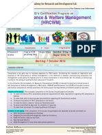 WARD Certification Program on HRM