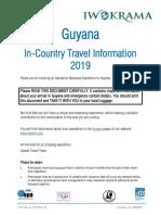 Guyana Internal Travel 2019