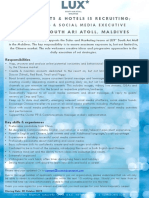LSAA Job Poster Advert Marketing & Social Media Executive 09.10.19