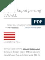 Daftar Kapal Perang TNI-AL - Wikipedia Bahasa Indonesia, Ensiklopedia Bebas