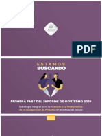 Estamos Buscando | Estrategia Integral para la Atención a la Problemática de la Desaparición de Personas en el Estado de Jalisco