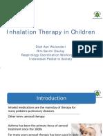 Inhalation Therapy in Children