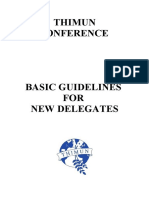 MUN Basic Guidelines for Delegates