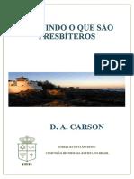 D. A. Carson - Definindo o que são presbíteros.pdf